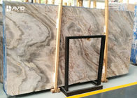 Highly Polished Countertop Marble Slab Brown And Grey 18/20/30mm Thickness